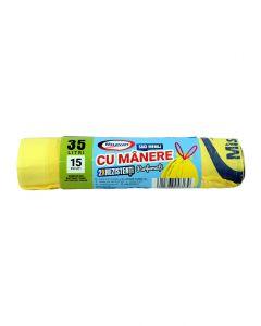 MSV SACI CU MANERE PARF 35L 15/SET 2R GALBENI