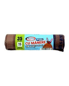 MSV SACI CU MANERE PARF 35L 15/SET 2R MARO