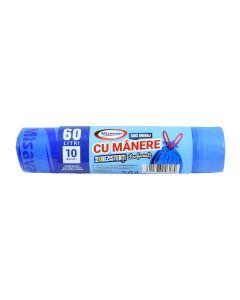 MSV SACI CU MANERE PARF 60L 10/SET 2R ALBASTRI
