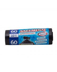 SACI MENAJ 60L 10/set SUPER REZISTENTI
