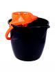 Galeata cu storcator Misavan, rotunda, negru+portocaliu, 12l