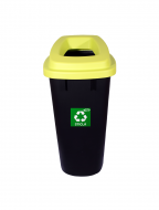 Cos gunoi colectare selectiva Misavan, verde, sticla, 120l