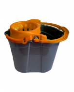 Galeata cu storcator Misavan, gri+portocaliu, 14l