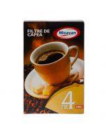 HARTIE FILTRU CAFEA NR.4 100/cutie